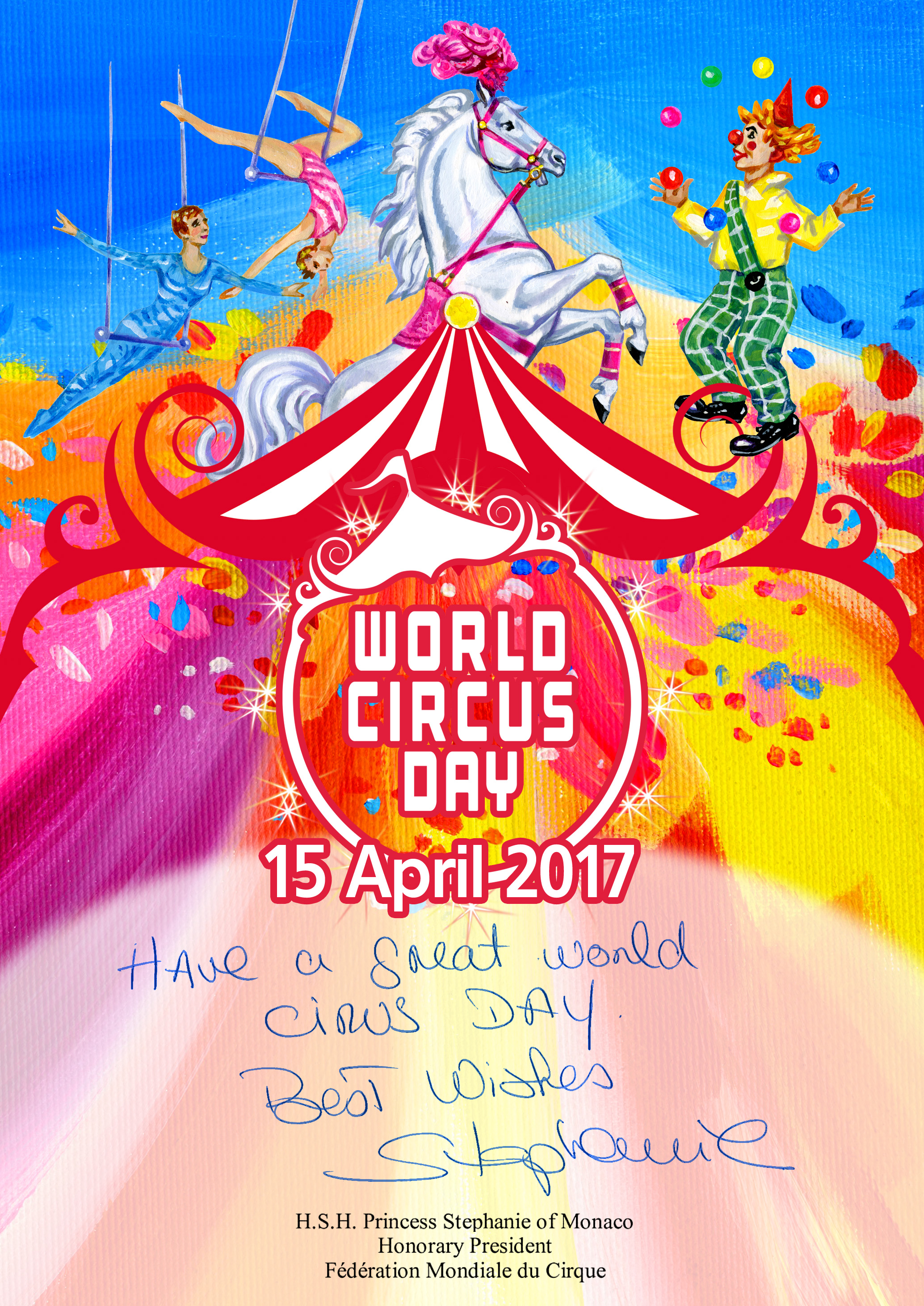 World circus day greetings from princess stephanie circus fans world circus day greetings from princess stephanie kristyandbryce Images